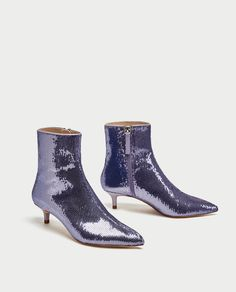 SEQUINNED HIGH HEEL ANKLE BOOTS - Ankle Boots-SHOES-WOMAN | ZARA United States