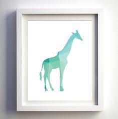 Teal Mint Turqiouse Geometric giraffe print by FancyDigitals Nursery Prints, Nursery Art, Animal Nursery, Nursery Decor, Nursery Ideas, Girl Nursery, Room Ideas, Art Wall Kids, Wall Art