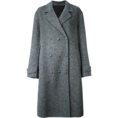 Alexander Wang oversized double breasted coat (47.915 RUB) ❤ liked on Polyvore featuring outerwear, coats, grey, grey coat, alexander wang, alexander wang coat, gray coat and oversized coat