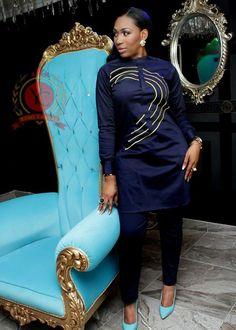 African women embroidery wear/women Kaftan/African top and trouser/Special top and trouser/embroider African Tops, African Shirts, African Women, Latest African Fashion Dresses, African Print Fashion, Africa Fashion, African Attire, African Wear, African Dress