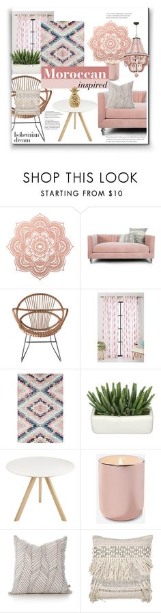 """Moroccan inspired decor"" by jafashions ❤ liked on Polyvore featuring interior, interiors, interior design, home, home decor, interior decorating, Pols Potten, Anthropologie, Surya and HAY"