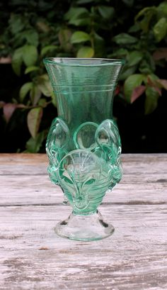 Anglo Saxon (Early Medieval) Style Green  Glass Claw Beaker. $ 80.00, via Etsy.