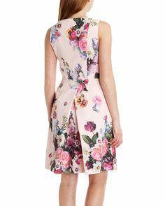 Floral printed dress - Nude Pink | Dresses | Ted Baker UK