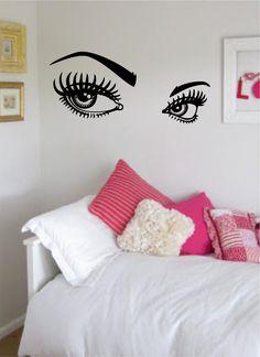 Sexy Beautiful Eyes Wall Sticker Decal Art Home Decor DIY High - Wall stickershuhushopxaudrey hepburn beautiful eyes removable