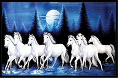 ok please send the 3d Wallpaper Painting, Horse Wallpaper, View Wallpaper, Seven Horses Painting, White Horse Painting, Lord Ganesha Paintings, Lord Shiva Painting, Horse Running Drawing, Running Horses