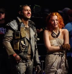 Tom Hardy & Riley Keough, behind the scenes of Mad Max: Fury Road. Mad Max Cosplay, Mad Max Costume, Mad Max Fury Road, Post Apocalyptic Clothing, Imperator Furiosa, Apocalypse World, Riley Keough, Elvis And Priscilla, Cinema