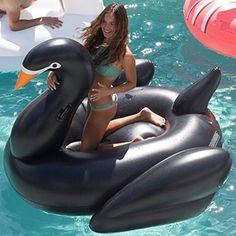 Flotador colchoneta cisne negro