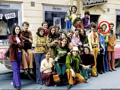 A picture of Osama Bin Laden with his family in Sweden 1970's.