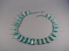 Turquoise Teardrop Necklace by sharronwesteren on Etsy, $92.00