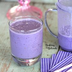 From Noshing with the Nolands-Banana and Blackberry Smoothie