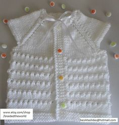 white baby vest for 0-1 years old Girls by braidedtheworld on Etsy