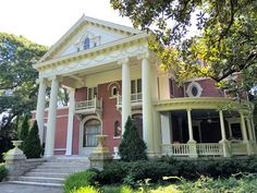 Built in 1903 for Asa Candler, founder of Coca-Cola in the fashionable Inman Park neighborhood of Atlanta. This Beaux Arts home is over square feet. Druid Hills, Inman Park, Southern Architecture, Georgia Homes, Historic Houses, Tudor House, Atlanta Homes, House Exteriors, Victorian Homes