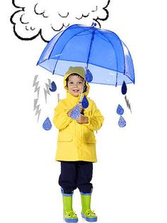 This costume will have your child running out the door rain or shine, in no time!