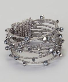 Silver Crystal Studded Bracelet