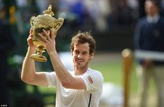 Murray was beaming with delight as he lifted the golden trophy while the crowd erupted with joy all around him on Centre Court