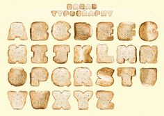Bread Typography via CHEWBLR
