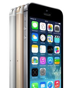 Apple iPhone 5S. or, argent et gris sidéral.