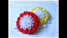 МК Необычные хризантемы из атласной ленты️/Unusual chrysanthemums/Crisâ...