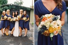 Wedding color ideas for fall wedding planning. Domino shares the best wedding colors to use when you plan your fall wedding. Fall Wedding Colors, Autumn Wedding, Wedding Bouquets, Wedding Flowers, Blush Flowers, Cream Flowers, Orange Flowers, Pretty Flowers, Navy Blue Bridesmaid Dresses