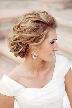 Hochzeit Hochsteckfrisur für Mittellanges Haar