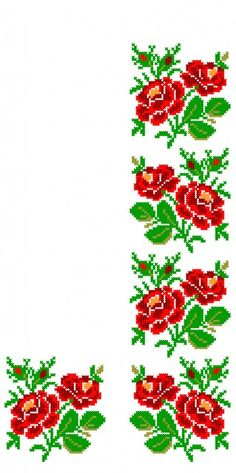 This Pin was discovered by Iry Cross Stitch Rose, Cross Stitch Borders, Cross Stitch Flowers, Cross Stitching, Cross Stitch Embroidery, Hand Embroidery, Cross Stitch Patterns, Embroidery Patterns Free, Peyote Patterns