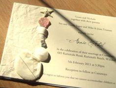Invitaciones para una boda playera!
