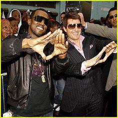 Just doing it like the Church of Satan founder does it -> Kayne and Tom Cruise - Illuminati
