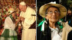 Esta noche, en el encuentro del Papa con la sociedad civil en la Iglesia de San Francisco en Quito, una catequista octogenaria y un grupo de niños y jóvenes con Síndrome de Down conmovieron al Santo Padre con las palabras y la música que le ofrecieron.
