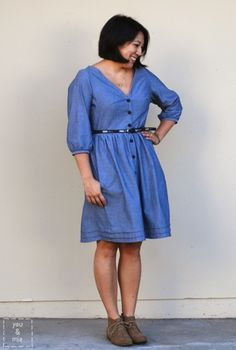 darling ranges dress in chambray