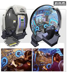 Gundam P.D: Immersive arcade game New Technology Gadgets, Futuristic Technology, Cool Technology, Gaming Computer Desk, Gaming Room Setup, Area Games, Arcade Room, Video Game Rooms, Game Room Design