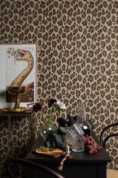 This is it, brown Browning, Wallpaper, Leo, Table, Pattern, Collection, Design, Brown, Wallpapers