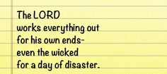 4 Proverbs 16, Wicked, It Works, Lord, Math Equations, Nailed It
