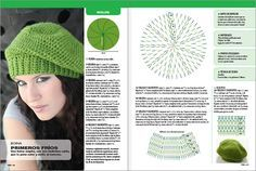 Beret Crochet Pattern para fácil e rápido. Bonnet Crochet, Crochet Diy, Crochet Beanie Hat, Crochet Baby Hats, Crochet Slippers, Crochet Chart, Love Crochet, Irish Crochet, Crochet Clothes