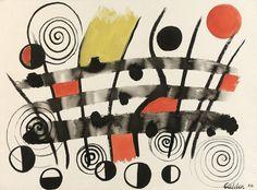 Alexander Calder - Composition, 1956. Gouache on paper