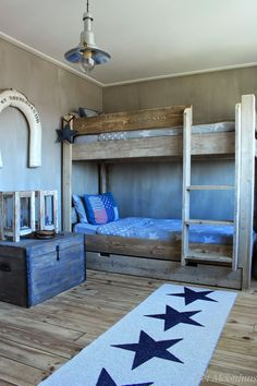 love these wooden bunks. #kids #beds #bunks