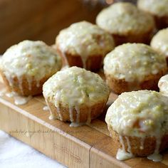 With a Grateful Prayer and a Thankful Heart: Poppyseed Muffins with Sweet Lemon Glaze