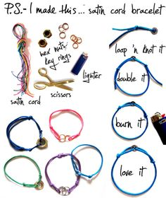 simple cord&charm bracelet (add:braid and replace single charm with part of chain)