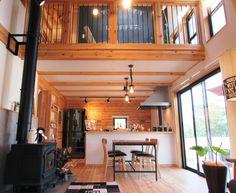薪ストーブを囲む男前インテリアLOAFER Loft Design, House Design, Home Again, Conference Room, Furniture, Home Decor, Houses, Decoration Home, Room Decor
