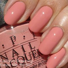False nails have the advantage of offering a manicure worthy of the most advanced backstage and to hold longer than a simple nail polish. The problem is how to remove them without damaging your nails. Nail Color Trends, Opi Nail Colors, Nails Summer Colors, Summer Nails 2018, Colorful Nail Designs, Nail Art Designs, Salmon Nails, Cute Nails, Pretty Nails