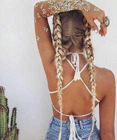 #Tumblr #hipster #hair #braids #summer #blonde #girl #boho #flowers #tattoo #tan #love #cute #pretty #girly #accessories #clothes #head #jewelry #top #sun #goals #inspiration #white #icon #grunge #flawless #outfit #chic #indie
