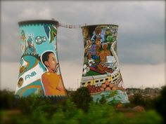 Colourful murals showing the extent of love and respect for Nelson Mandela in Soweto, Johannesburg, South Africa Create Your Own Reality, Xhosa, Water Tower, Travel Memories, African Beauty, Cape Town, Beautiful Beaches, South Africa, Travel Inspiration