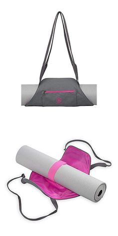 Gaiam On-The-Go Yoga Mat Carrier, StormPink