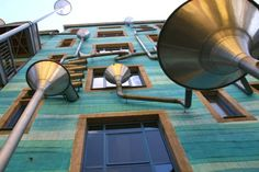 Dresden building turns rain into a visual and audio delight