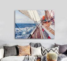 Πίνακας σε καμβά, τελαρωμένος – έτοιμος για τοποθέτηση   Εκτύπωση θέματος με ψηφιακή εκτύπωση σε καμβά 100% βαμβακερό  Τελάρο κουτί 4,5 cm Sailboat, Tapestry, Gallery, Vintage, Home Decor, Sailing Boat, Hanging Tapestry, Tapestries, Decoration Home