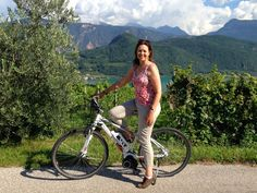 Cycling the wine road in South Tyrol above Lake Caldaro / Kaltern in South Tyrol