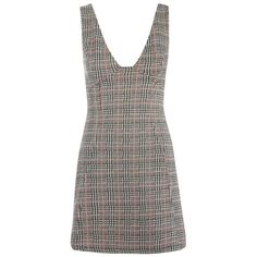 Women's Topshop Plaid A-Line Pinafore Dress (£43) ❤ liked on Polyvore featuring dresses, pink layered dress, preppy dresses, a line shape dress, tartan dress and tartan plaid dress