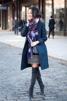 New York Moment :: Striped dress
