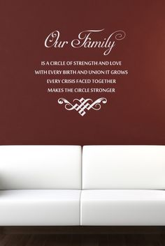 Decals That Dazzle - Family Wall Decal, $15.00