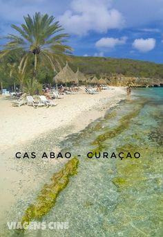 Praia de Cas Abao, em Curaçao, uma das melhores praias dessa ilha do Caribe