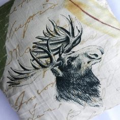 Moose Design Cushion Cover